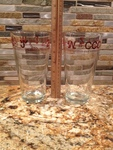 6027-4 Iced Tea Glasses with Brown Brands