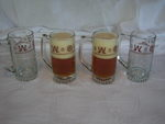Western Beer Mugs with Cattle Brands design